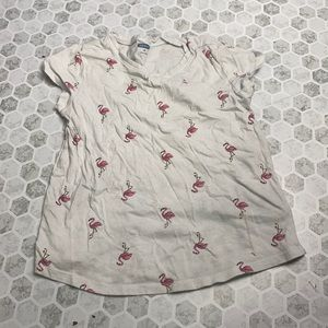 Old Navy 5T Short Sleeve Flamingo Graphic T